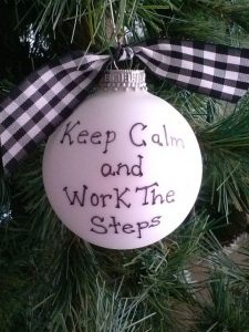 Working the 12 steps over Xmas