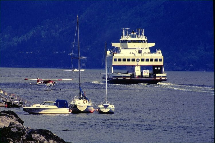 Bowen Island Ferry leaving Snug Cove, just a short 20 minute trip to the mainland.