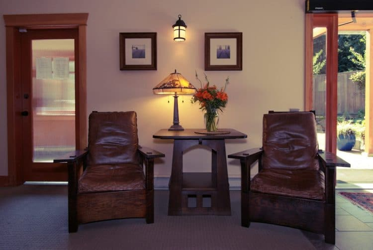 In the foyer of the Orchard Recovery Center Administration building clients can relax in comfortable chairs