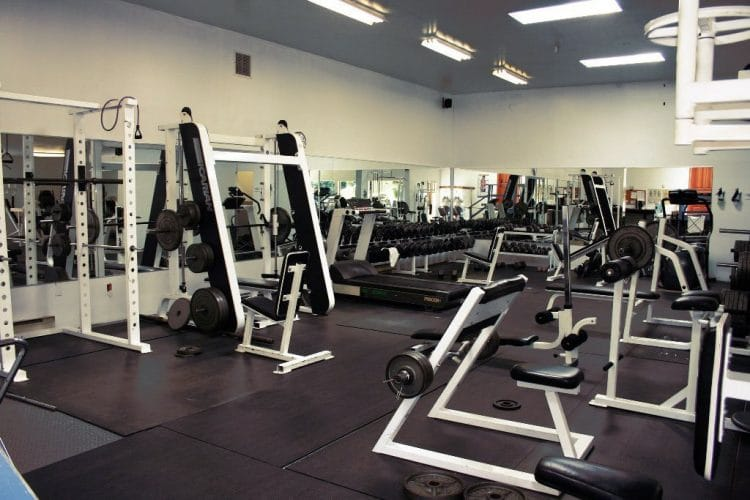 Orchard Recovery Center has a fully equipped gym available for client use.