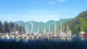 Union Steamship Marina by the ferry terminal on Bowen Island, BC