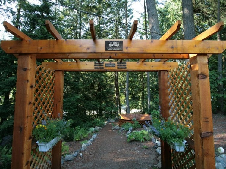Memorial garden for Michael, Lorinda Strangs brother has become a powerful memorial for all who have fallen to this disease.