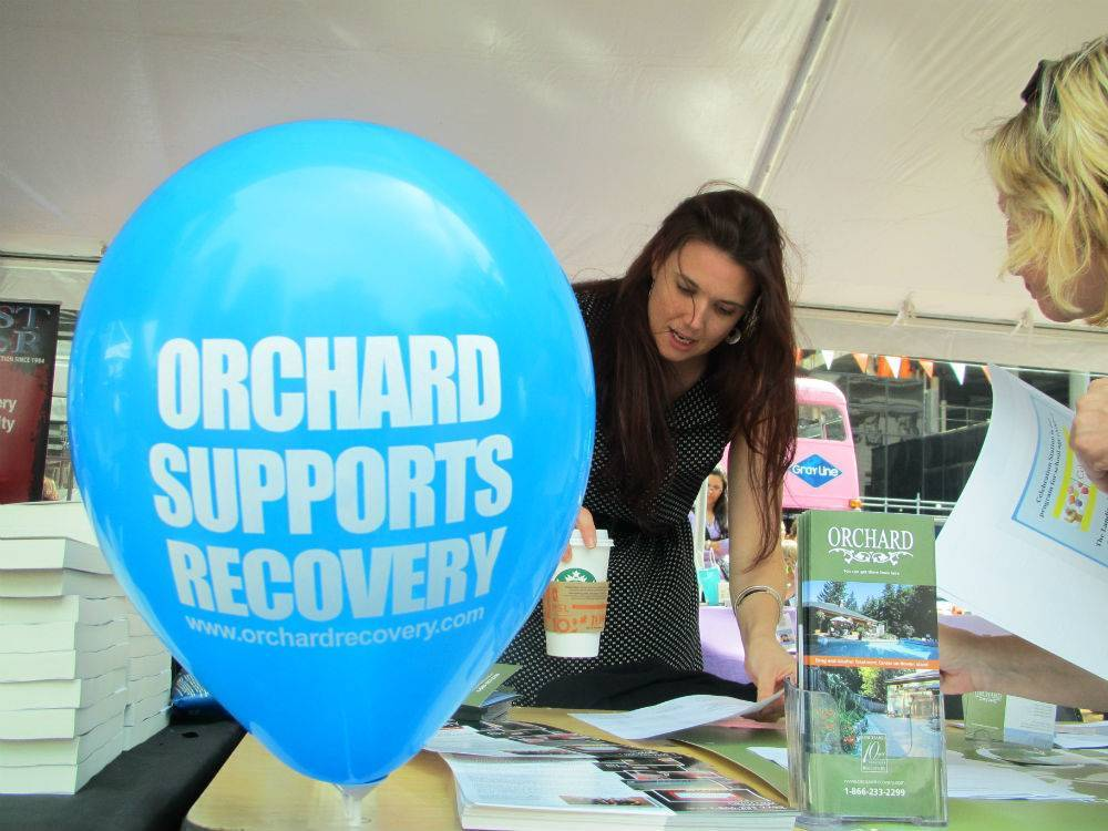 Orchard Recovery Center Booth at Recovery Day 2013