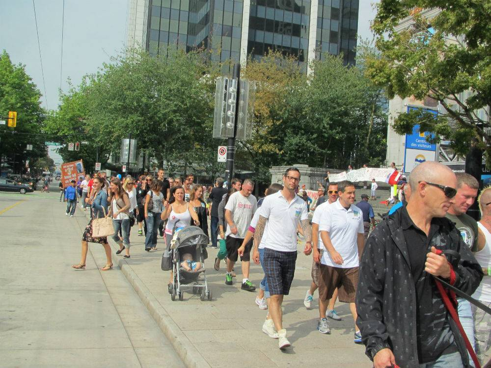 Robson Street at Recovery Day 2013