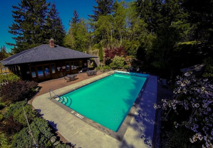 Clients can go for a relaxing swim in the pool at Orchard Recovery Center Residence