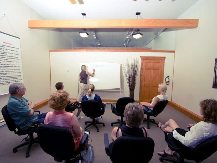 Clients participating in Counsellor led small group sessions at Orchard Recovery Center