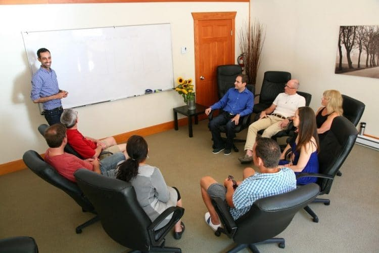 Counsellor lead small group sessions