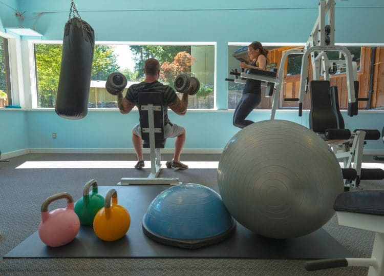 Orchard Recovery Center's Gym contains a variety of gym equipment