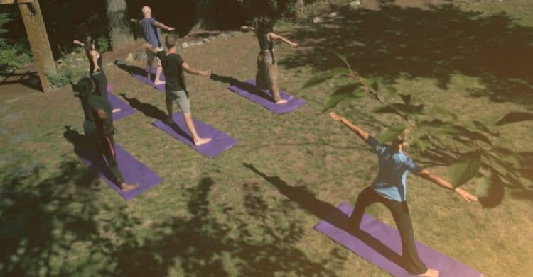 Yoga in the sun provides grounding for clients at Orchard Recovery Center