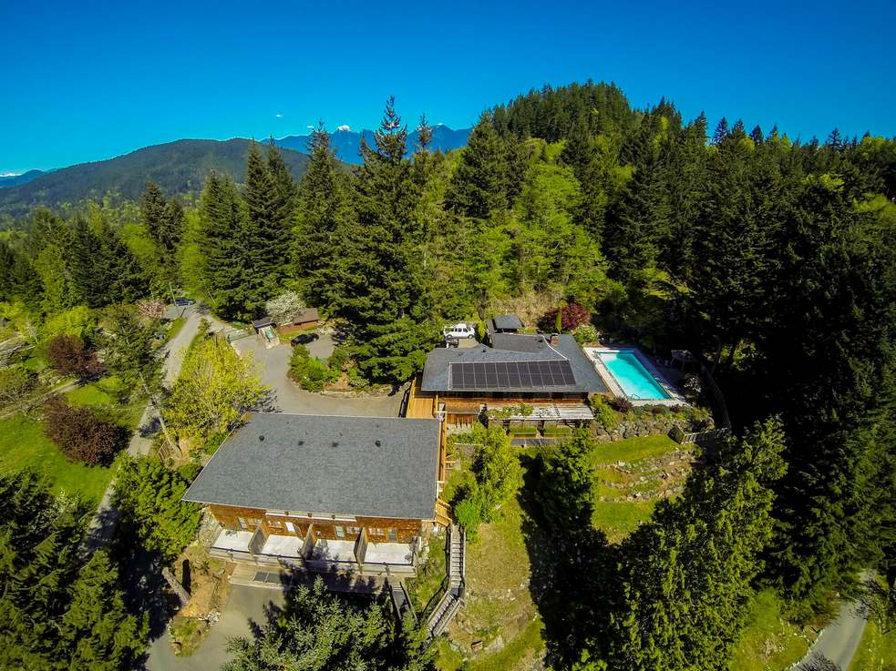 Orchard Recovery Residence nestled in the trees on Bowen Island