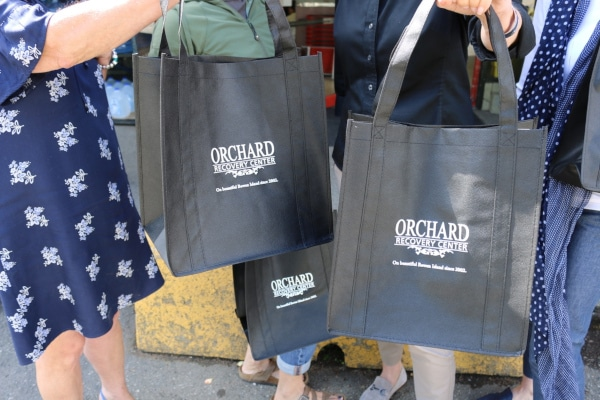 Orchard Recovery Center Donates Reusable Bags