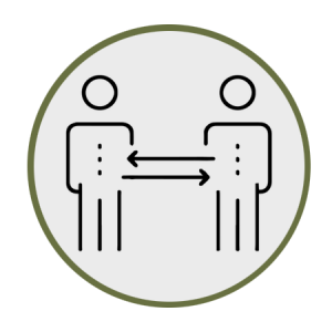 Image showing space between two people for social distancing
